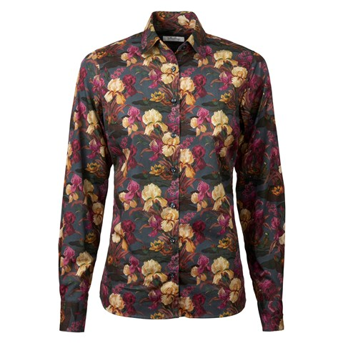 Flower Patterned Classic Shirt