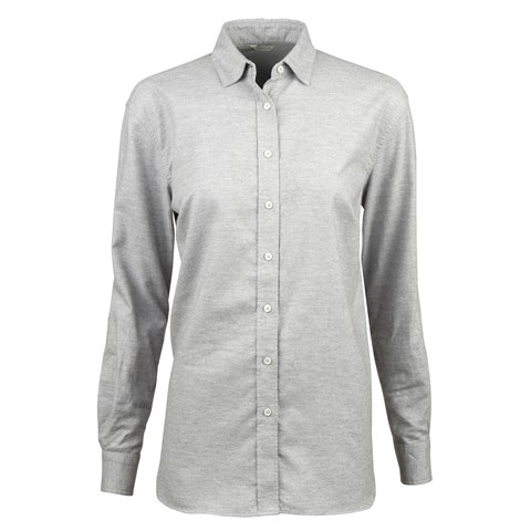 Grey Cotton Cashmere Shirt