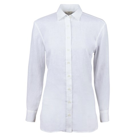 White Linen Boyfriend Shirt