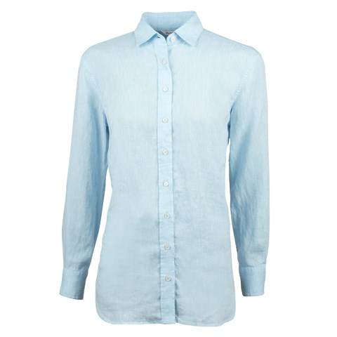 Sammi Boyfriend Linen Shirt Light Blue