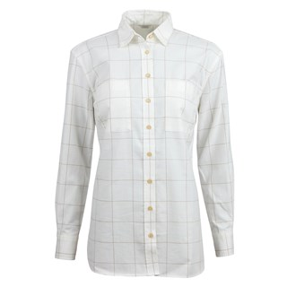 Off-White Window Pane Checked Boyfriend Shirt