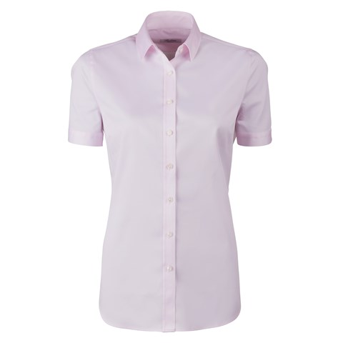 Light Pink Feminine Shirt With Short Sleeves