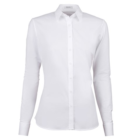 Sibel Feminine Shirt White, Jersey Back