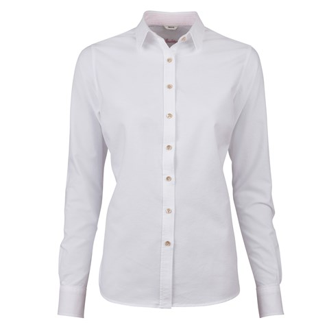 White Feminine Oxford Shirt