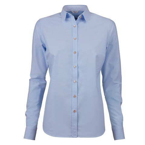 Light Blue Feminine Shirt In Oxford