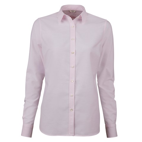 Light Pink Feminine Shirt In Oxford