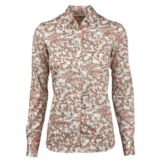 Leaf & Monkey Patterned Feminine Shirt