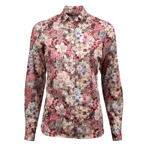 Floral Patterned Feminine Shirt