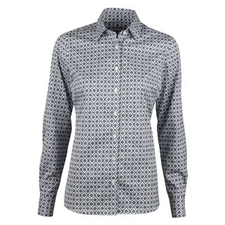 Medallion Patterned Feminine Shirt