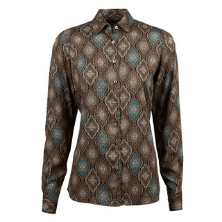 Medallion Patterned Feminine Blouse