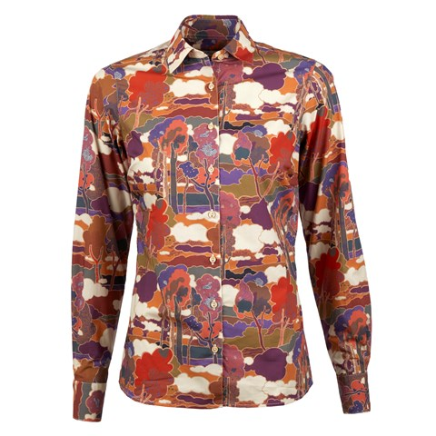 Colorful Patterned Shirt in Poplin