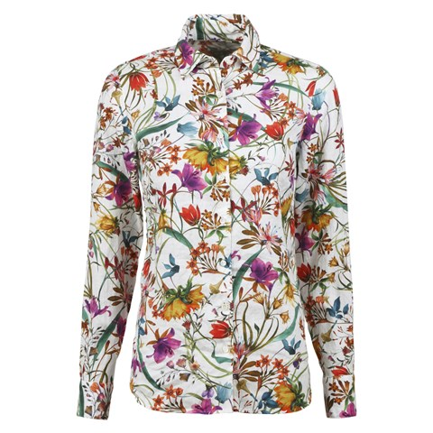 Sofie Feminine Shirt Tropical Flowers