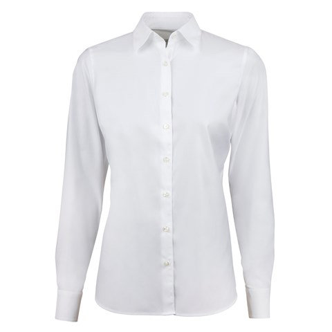 White Feminine Shirt, Stretch
