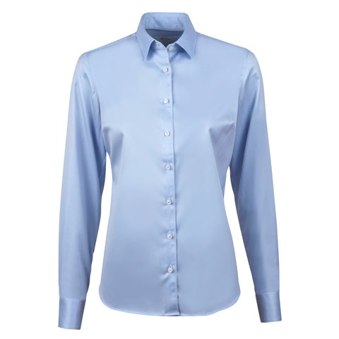 Blue Feminine Shirt, Stretch