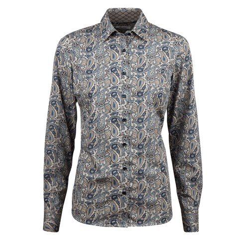 Paisley Patterned Feminine Shirt