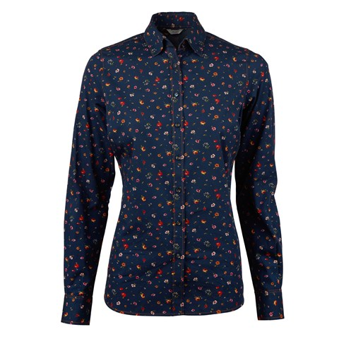 Feminine Shirt With Flower Pattern
