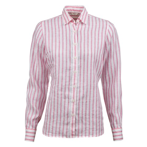 Pink Striped Feminine Blouse