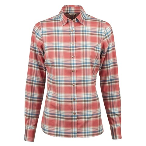 Pink Check Flannel Feminine Shirt