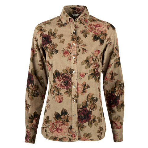 Floral Baby Cord Feminine Shirt