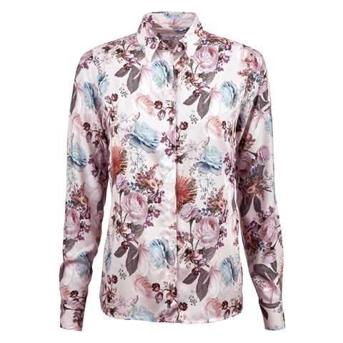 Light Pink Floral Feminine Shirt