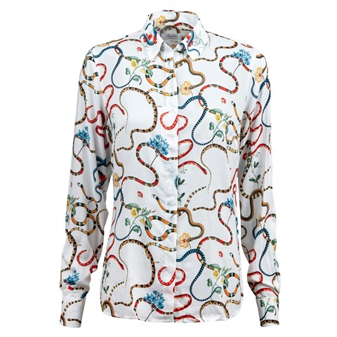 Snake Patterned Feminine Shirt