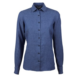 Sofie Linen Shirt Blue