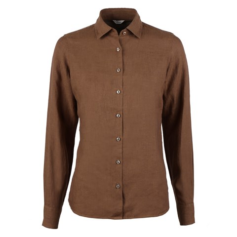 Sofie Linen Shirt Brown