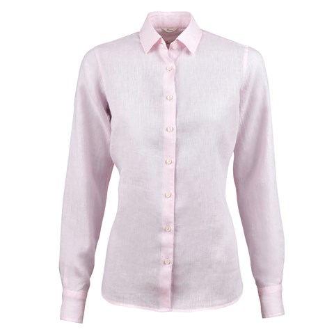 Light Pink Linen Feminine Shirt