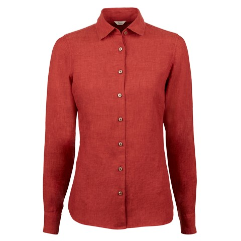 Sofie Linen Shirt Red