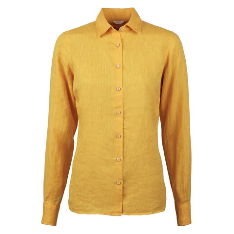 Sofie Linen Shirt Yellow