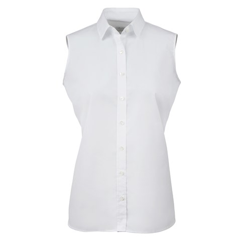 White Sleeveless Feminine Shirt