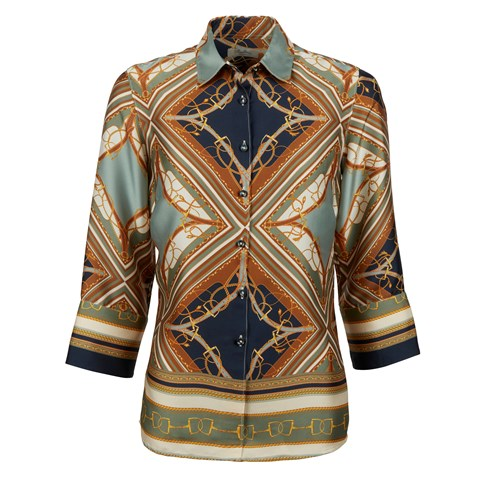 Silky Bridle Patterned Blouse