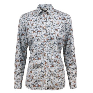 Casual Flower Patterned Feminine Shirt
