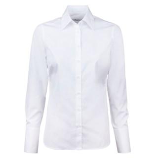 White Feminine Shirt With Long Cuffs