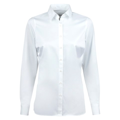 White Feminine Shirt With Side Overlap