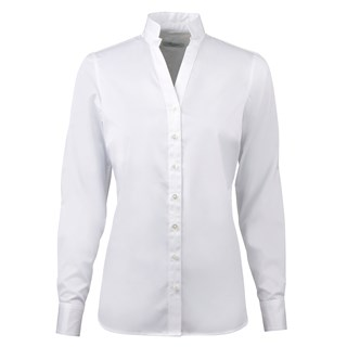 White Feminine Shirt With Open Collar