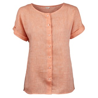 Orange Feminine Linen Blouse