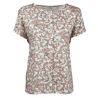 Leaf & Monkey Patterned Feminine Blouse