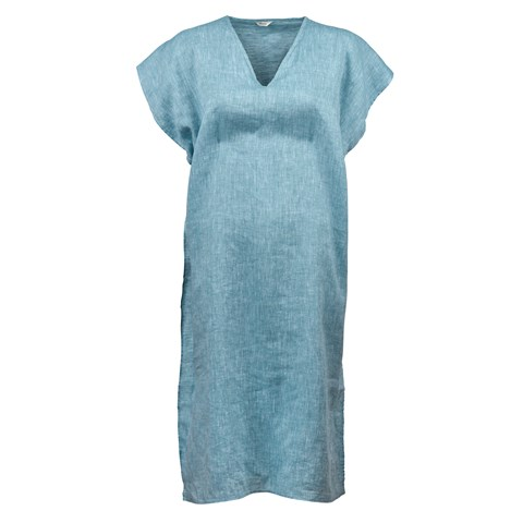 Turquoise Linen Caftan