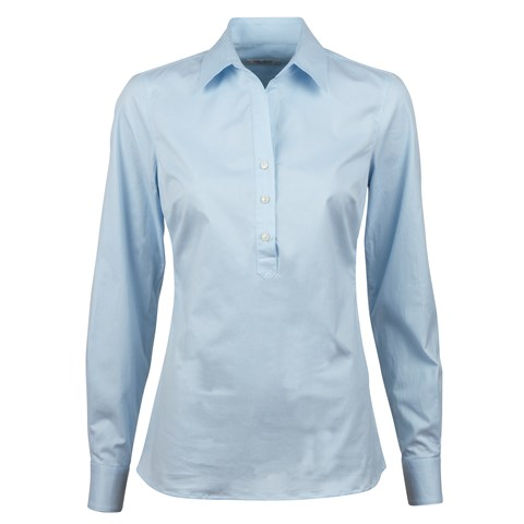Light Blue Striped Pop Over Shirt