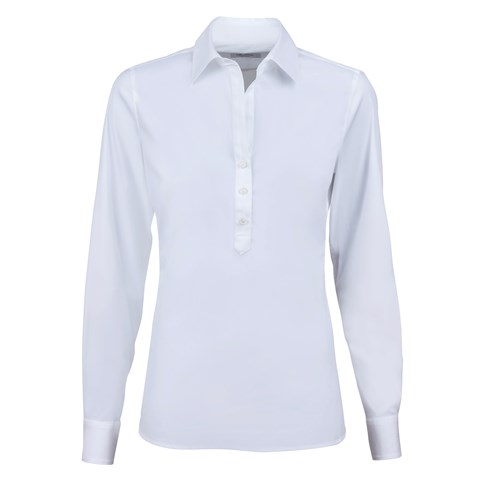 Light Blue Pop Over Feminine Shirt