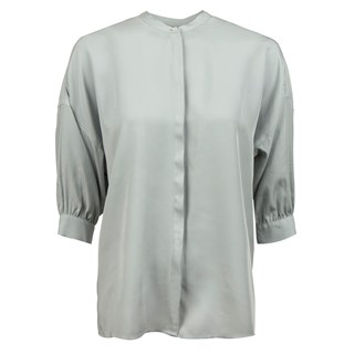 Pistage Feminine Blouse With Balloon Sleeves