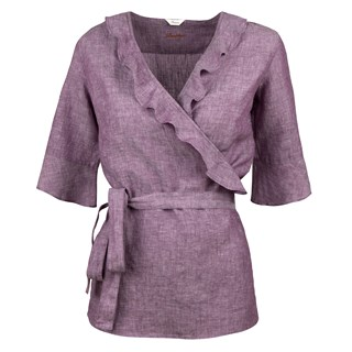 Lilac Feminine Blouse With Frill Details