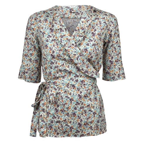 Floral Feminine Blouse With Frill Details