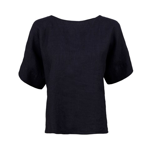 Navy Short Sleeved Blouse
