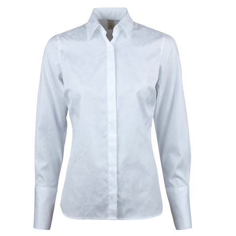 White Patterned Feminine Shirt