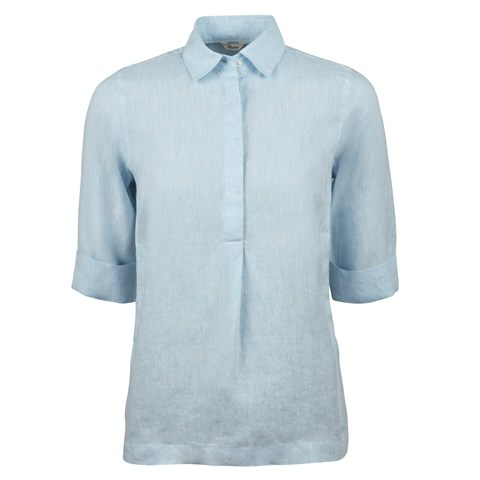 Light Blue Linen Pop-Over