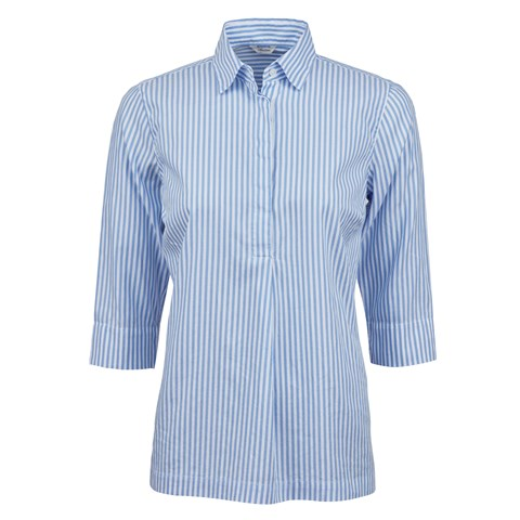 Blue Striped Oxford Pop Over