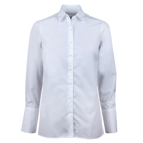White Shirt With Side Overlap