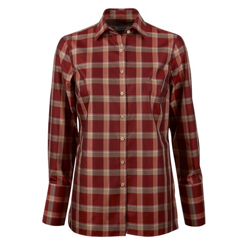 Red Checked Shirt W Side Overlap